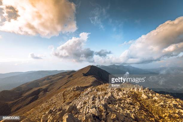 View from Tahtali Mountain in the Taurus Mountains in Turkey