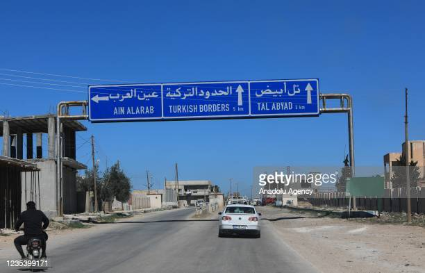 View from Tal Abyad district which was cleared from PKK, listed as a terrorist organization by Turkey, the U.S. And the EU, and Syrian Kurdish YPG...