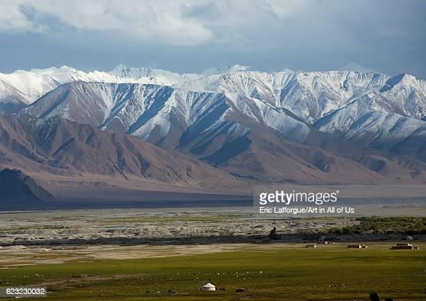 View from Tashkurgan fort, Tashkurgan, Xinjiang Uyghur Autonomous Region, China on September 21, 2012 in Tashkurgan, China.