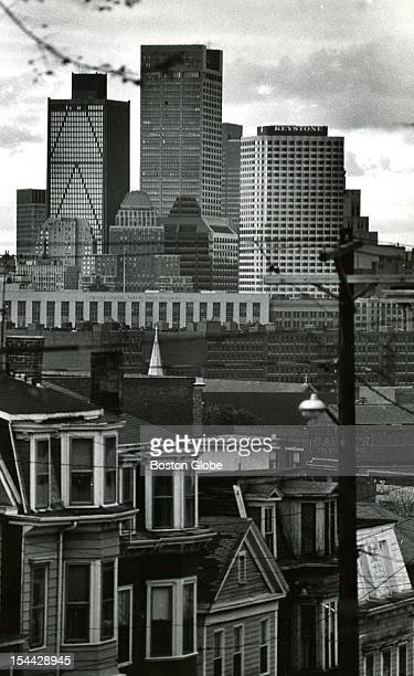 View from Telegraph Hill in South Boston at the bank building downtown