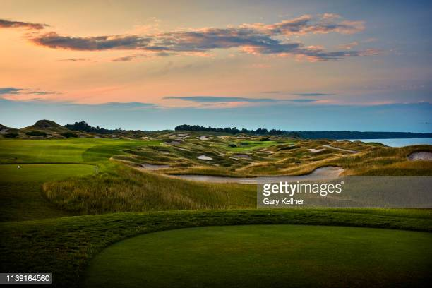 View from the 11th hole of Whistling Straits Golf Course on October 15, 2018 in Sheboygan, Wisconsin.