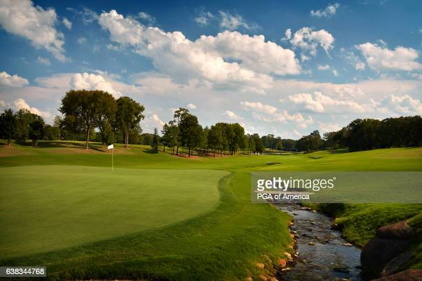 View from the 18th hole of Quail Hollow Club on September 30, 2016 in Charlotte, North Carolina.