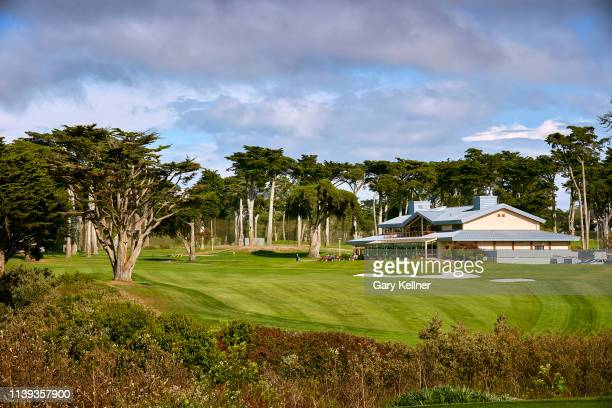 View from the 18th hole of TPC Harding Park on October 2, 2018 in San Fransisco, California.