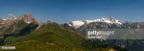 View from the Adler Lounge to Kendlspitze and Grossglockner, High Tauern National Park, East Tyrol, Tyrol, Austria