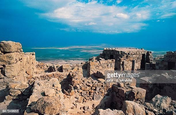 View from the ancient Masada natural fortress Israel 1st century bC