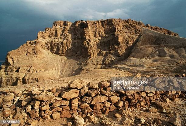 View from the ancient Masada natural fortress Israel 1st century bC