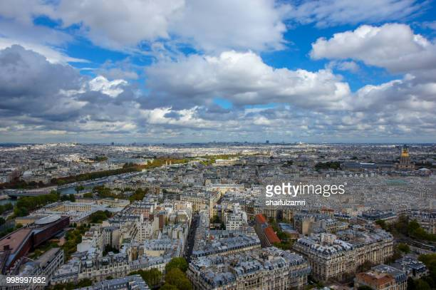 View from The Arc de Triomphe - one of the most famous monuments in Paris. It stands in the centre of the Place Charles de Gaulle.