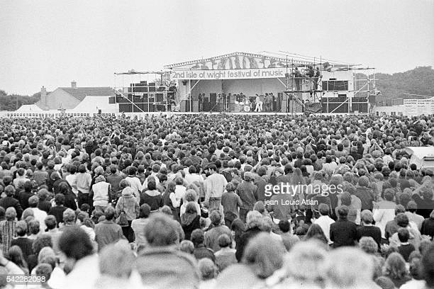 View from the audience during the International Pop and Rock Festival of the Isle of Wight