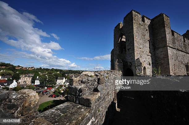 A view from the battlements of Chepstow Castle on August 17 2014 in Chepstow Wales Construction on Chepstow Castle began in 1067 following the Norman...