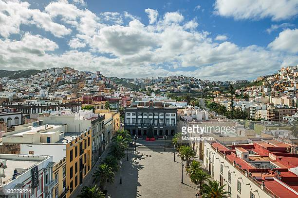 view from the bell tower of the cathedral - las palmas cathedral stock pictures, royalty-free photos & images