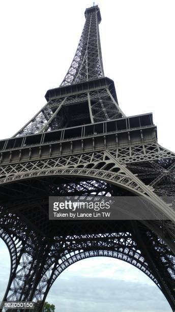 A view from the bottom of Eiffel Tower