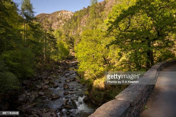 View from the bridge at Aberglaslyn pass, Beddgelert, Snowdonia