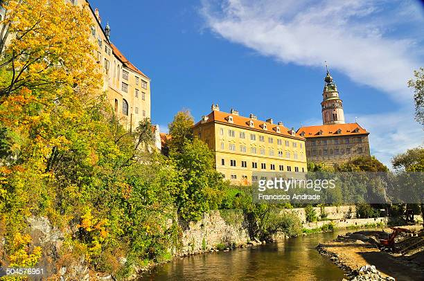 CONTENT] View from the castle tower and the medieval town of Cesky Krumlov in South Bohemia Czech Republic