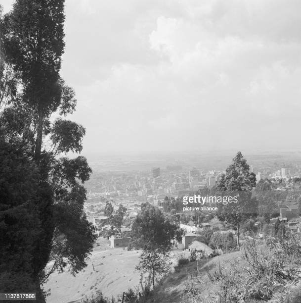 View from the church over the city center Bogota Colombia 1958 | usage worldwide