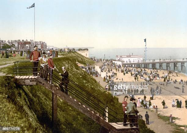 View from the cliffs ClactononSea England 1890 The modern day ClactononSea was founded by Peter Bruff in 1871 as a seaside resort Originally the main...