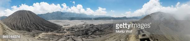 view from the crater of mount bromo, mount batok, bromo tengger semeru national park, east java, indonesia - bromo crater stock pictures, royalty-free photos & images