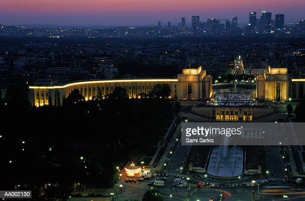 View from the Eiffel Tower at Sunset