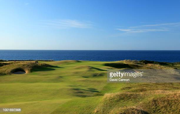 View from the fairway on the 382 yards par 4, fifth hole 'White Rocks' on the Dunluce Links at Royal Portrush Golf Club the venue for The Open...