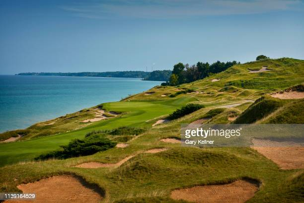 View from the fourth hole of Whistling Straits Golf Course on October 15, 2018 in Sheboygan, Wisconsin.