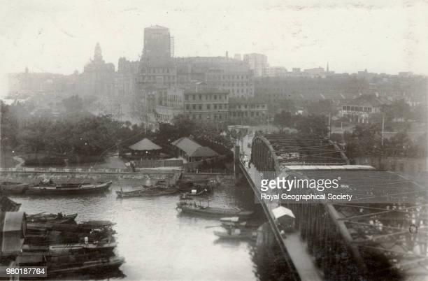 View from the Garden Bridge Shanghai China 1930