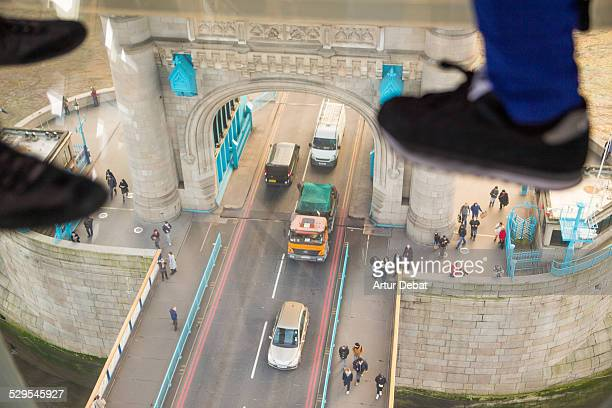 View from the glass floor in the London Bridge