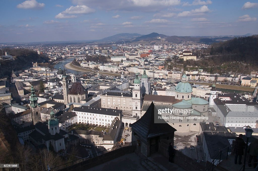 View from the Hohensalzburg Fortress, Salzburg, Austria, Europe : Stock Photo