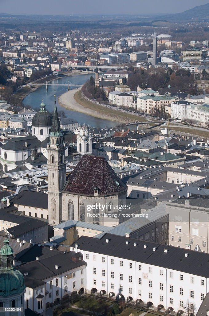 View from the Hohensalzburg Fortress, Salzburg, Austria, Europe : Stock Photo