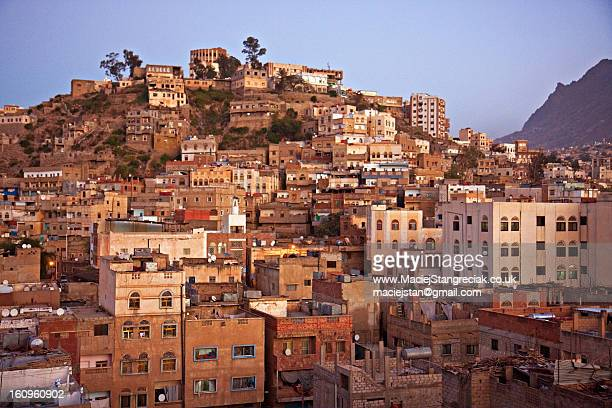 a view from the hotel - ta'izz - ta'izz stock pictures, royalty-free photos & images
