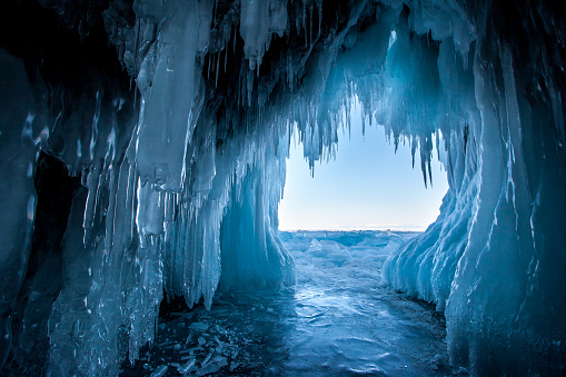 View from the ice cave on Lake Baikal. 1188039960