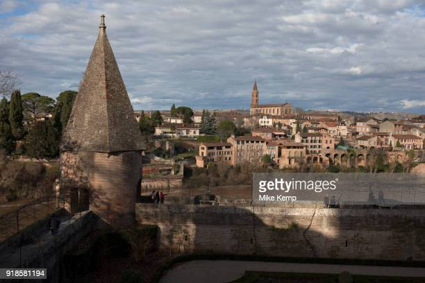 View from the Jardins du Palais de la Berbie across the Tarn River in Albi Southern France