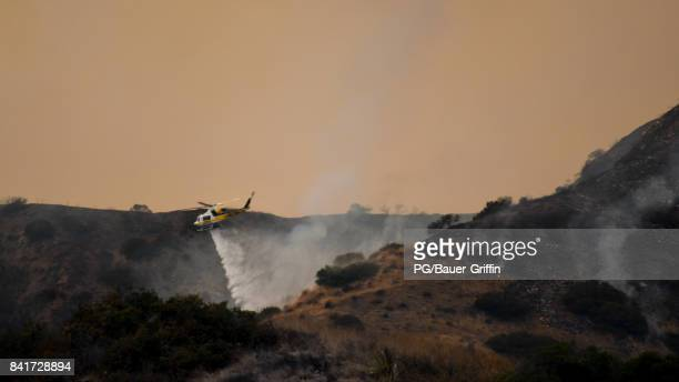 A view from the La Tuna Canyon Fire on September 01 2017 in Los Angeles California