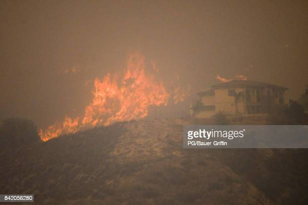 A view from the La Tuna Canyon Fire on September 02 2017 in Los Angeles California
