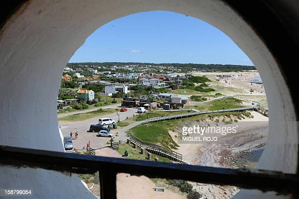 View from the lighthouse of Jose Ignacio Maldonado Uruguay on December 28 2012 AFP PHOTO/Miguel ROJO