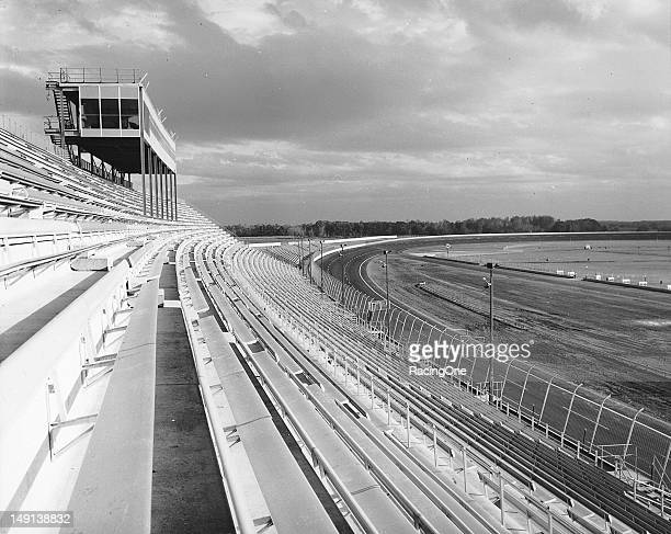 A view from the main grandstand of the nearly completed Michigan International Speedway Groundbreaking took place on September 28 and over 25 million...