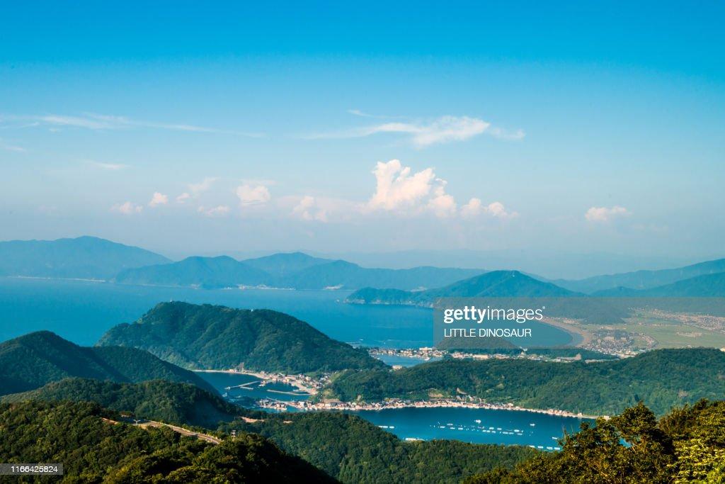 View from the Mikata Goko Rainbow Line. Fukui Japan : Stockfoto