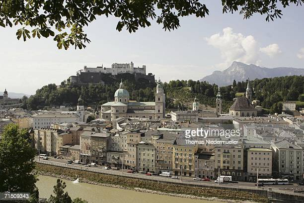 A view from the Moenchsberg to the 'Festung Hohensalzburg' on July 24 2006 in Salzburg Austria