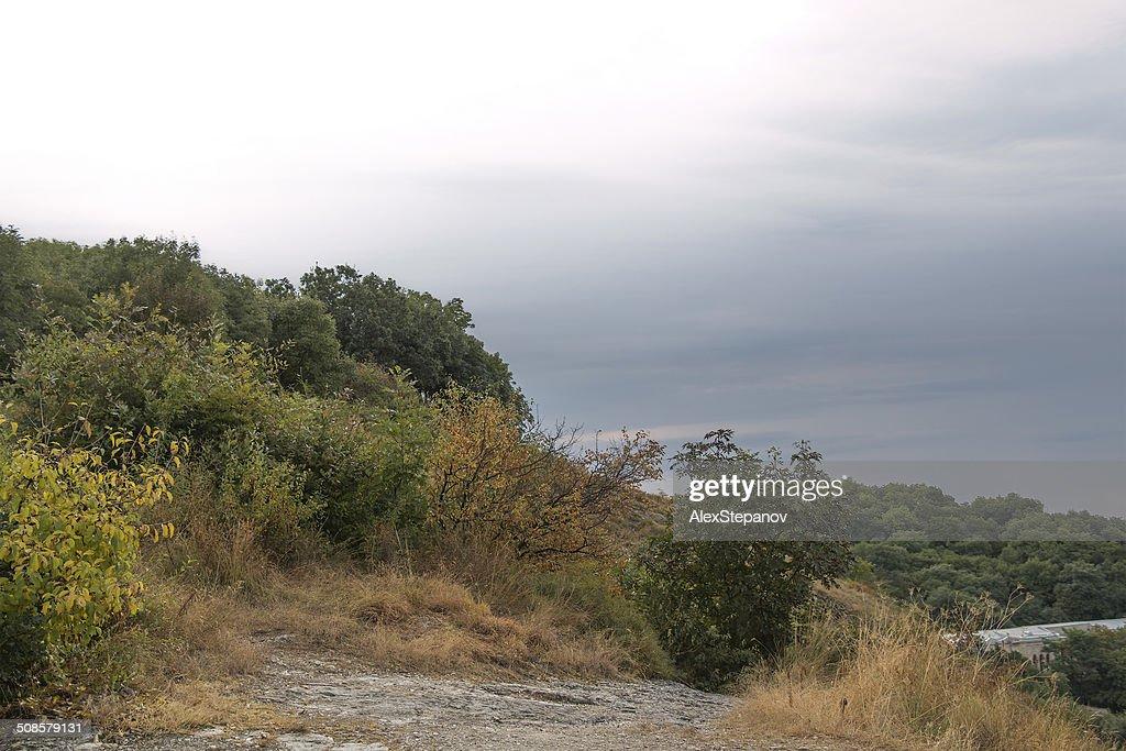 View from the mountain Goryachaya in the morning (Pyatigorsk, Ru : Stock Photo
