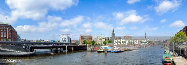 """mening van niederbaumbrücke in hamburg, duitsland tijdens een mooie de zomerdag. - """"sjoerd van der wal"""" or """"sjo""""nature stockfoto's en -beelden"""