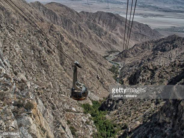 view from the palm springs aerial tramway - palm springs stock-fotos und bilder