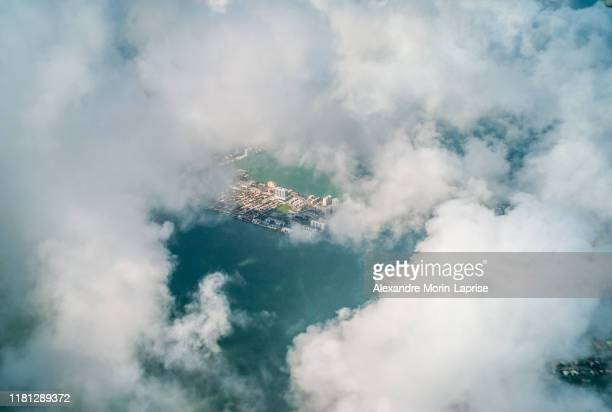 view from the plane a part of the miami city - united states - alexandre coste foto e immagini stock