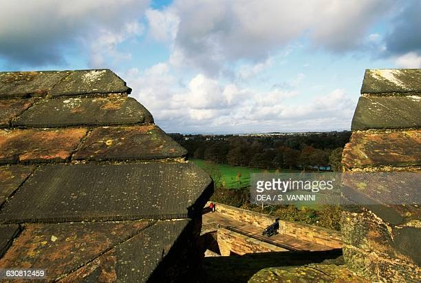View from the ramparts of Carlisle Castle founded in 11th century by William II of England England United Kingdom