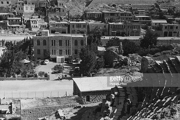 A view from the Roman Theatre in Amman Jordan 1941 It was built in the mid 2nd century AD Original Publication Picture Post 874 The Heart Of The...