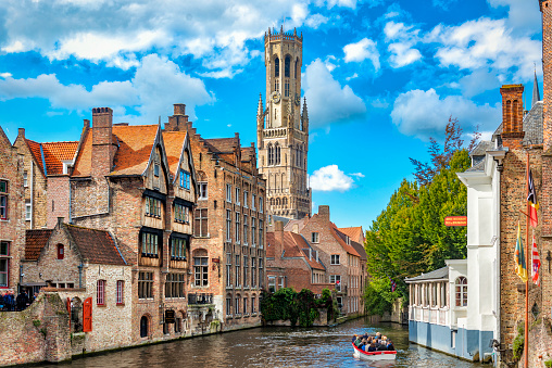 View from the Rozenhoedkaai in Bruges 530589862