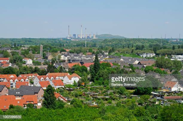view from the schurenbachhalde, ruhr district, essen, north rhine-westphalia, germany - essen germany stock pictures, royalty-free photos & images
