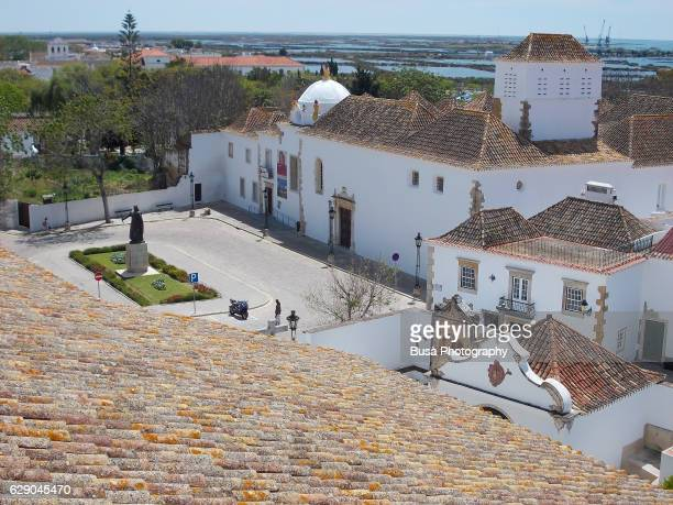 view from the se cathedral (faro cathedral), faro, portugal - faro city portugal stock photos and pictures