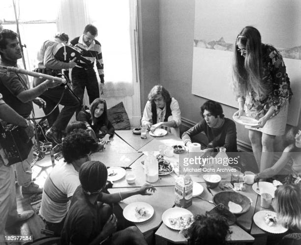 A view from the set of the Documentary movie Revolution in 1968