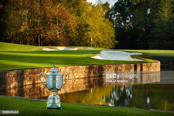 View from the seventh hole of Quail Hollow Club on September 30, 2016 in Charlotte, North Carolina.