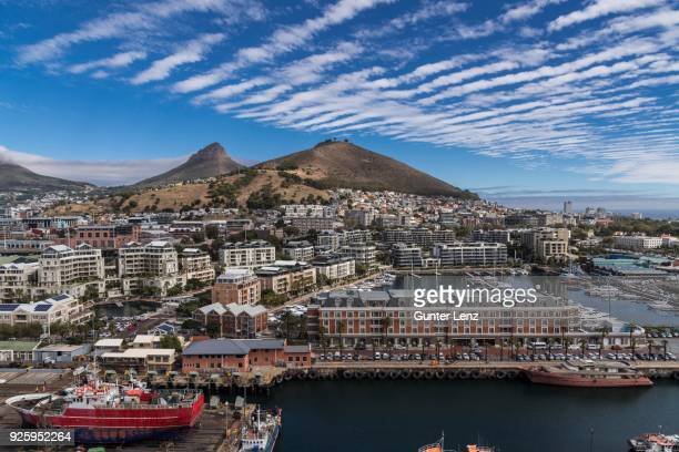 view from the silo hotel on victoria and alfred waterfront, cape town, western cape, south africa - silo stock photos and pictures