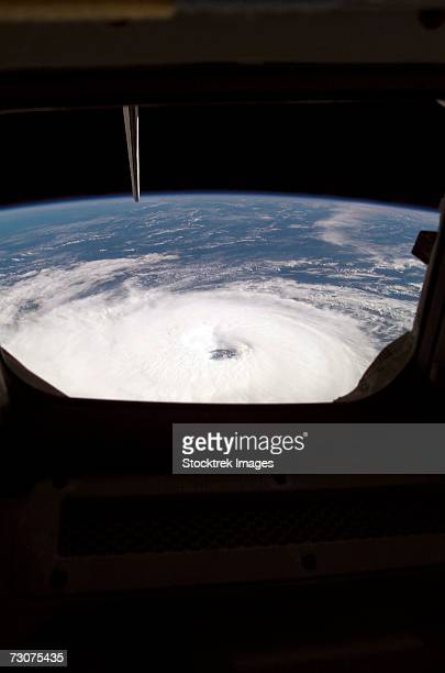 A view from the Space Shuttle Atlantis gives a good look of Hurricane Gordon.