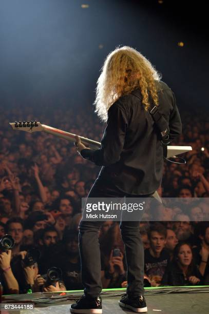 View from the stage as Dave Mustaine of Megadeth performs on stage at Wembley Arena London 14th November 2015